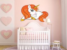 FULL COLOUR Unicorn Wall Art,  Modern Transfer,  PVC Decal, Fantasy, 3D Sticker